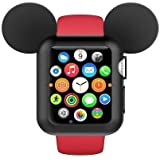 Fohuas for Apple Watch Case 38mm,Shock-proof and Scratch-resistant Apple Watch Bumper iwatch Case for Apple Watch Series 3, Series 2, Series 1, Nike+,Sport, Edition- Black