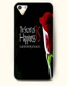 iPhone 5 5S Case OOFIT Phone Hard Case ** NEW ** Case with Design The Secret Of Happiness- Rose In Dark - Case for Apple iPhone 5/5s