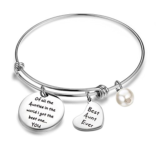 MAOFAED Aunt Gift Best Aunt Ever Bracelet Of All The Aunties In The World I Got The Best One.You Gift Idea Aunt