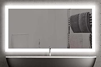 Rugier 100 x 80 cm miroir avec éclairage led miroir de salle de