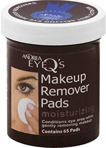 Andrea Eye Q's Eye Make-Up Remover Pads Moisturizing 65 Each (Pack of 9)