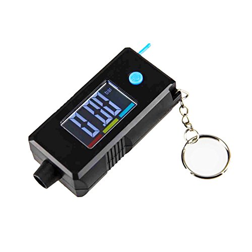 Trying 2-in-1 Digital Display LCD Tire Pressure Gauge and Tire Thread Depth Gauge Keychain (8855F) (Keychain Tire Gauge Digital)