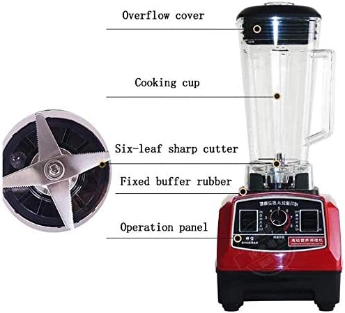Bbhhyy Broyeur À Glace, Blender Maker Smoothie Multi-Fonctionnel Et Mélangeur for Juicer De Fruits Légumes Automatique Blender