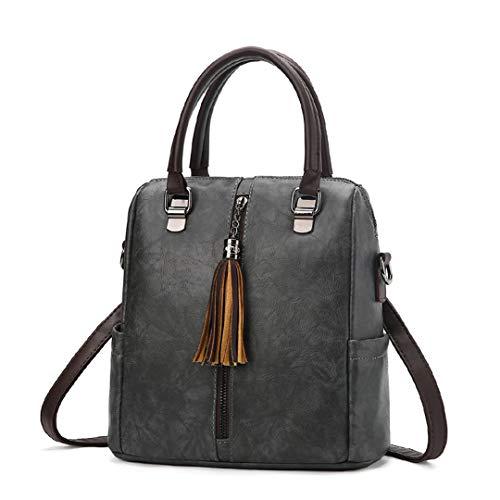 à luxe à à les rétro de multi pour sacs Sacs cuir sac dos usages main bandoulière messenger en dames sacs Gray femmes Sentsreny sac avwBxqAff