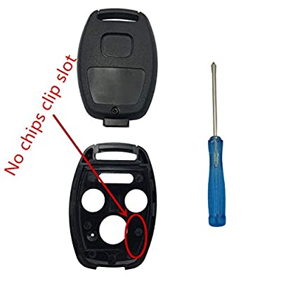 BINOWEN 3+1 Buttons Replacement For Keyless Entry Remote Honda Key Fob Shell With Screwdriver Fit For Honda 2008-2012 Accord 2006-2013 Civic EX 2009-2015 Pilot (2PC): Automotive