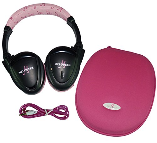 Wisconsin Auto Supply MDZHP-FF-P-(1) Pink Wireless Headphone (2 Channel Fold Flat DVD Player with Case and 3.5 mm Auxiliary Cord), 1 Pack