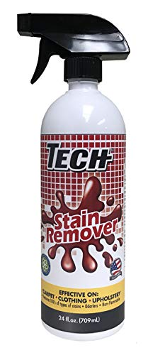 TECH Stain Remover Spray Bulk - Effective Stain Remover Spray for Carpet, Clothing, Laundry, Upholstery and Other Washable Fabrics (24 OZ, 6-Pack)