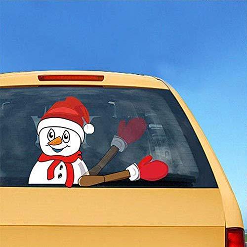 Juego De Calcomanías De Navidad, Muñeco De Nieve Que Agita Las ...