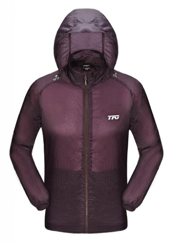 The First Outdoor Men's Anti UV ultrathin Jacket Summer X-Large Reddish Purple by The First Outdoor