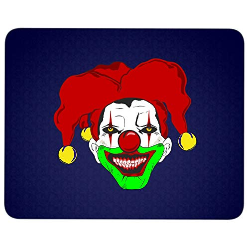 Clown Face Mug, Scary Clown Mouse Pad for Typist Office, Halloween Gift Quality Comfortable Mouse Pad (Mouse Pad - Navy) -