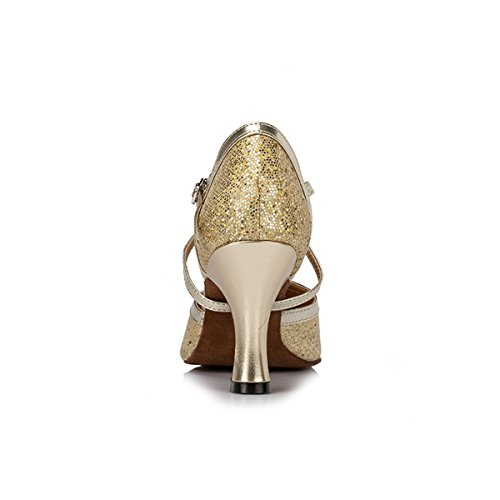 Miyoopark ,  Damen Tanzschuhe Light Gold-8cm Heel
