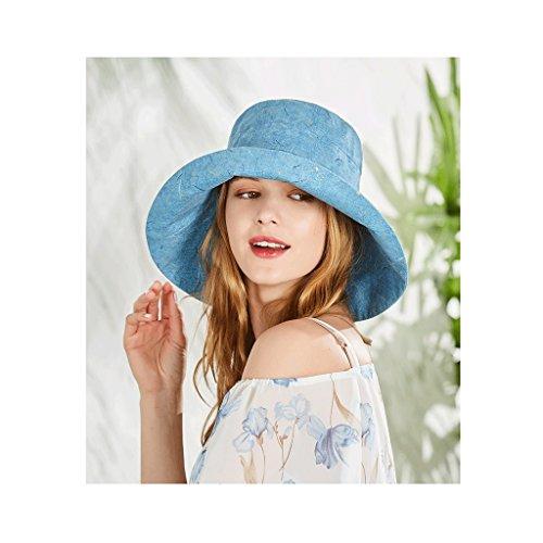 Azul Sol Pink Viajes Sombreros Qiqidedian Primavera Pescador Verano color Plegable De Snfvwg7
