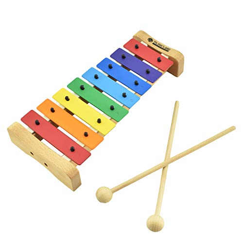 MUSICUBE Xylophone with Harmonica for Kids Orff Instruments Wooden Xylophone with Mallets Toddler Baby Musical…