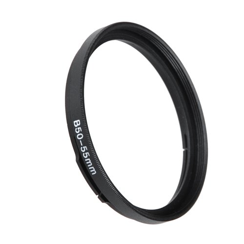 Fotodiox Step Up Filter Adapter Ring for Hasselblad Bayonet 50 B50 - 55mm, Anodized Black Metal Filter Adapter Ring