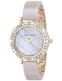 Anne Klein Women's AK/1442RGTP Swarovski Crystal-Accented Bangle Watch