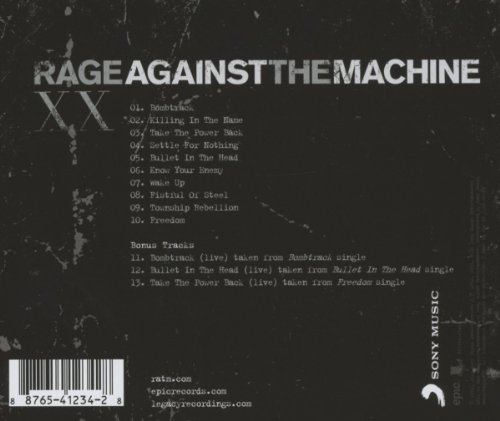 Rage Against The Machine - XX (20th Anniversary Edition)