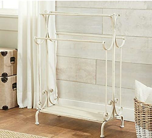 """36"""" Decorative Metal Quilt Stand by Valerie/Ivory"""