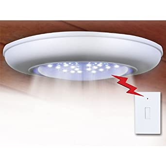 Everyday Home Cordless Ceiling-Wall Light With Remote Control Light Switch - Turn On Ceiling ...