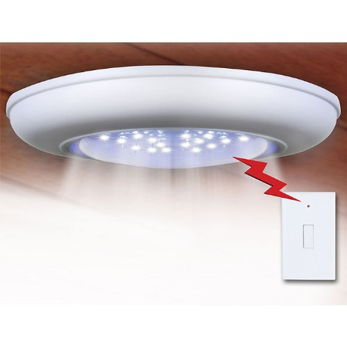 Everyday Home Cordless Ceiling-Wall Light With Remote Control Light Switch by Trademark Global