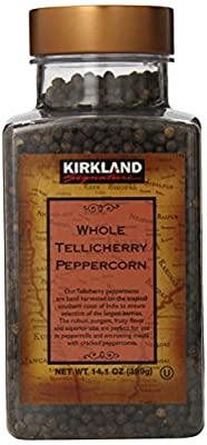 Kirkland Signature Whole Tellicherry Peppercorns, 14.1oz Gourmet Jar by Kirkland Signature