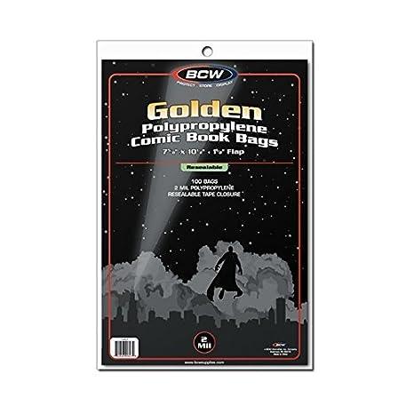 100) edad de oro tamaño resellable transparente bolsas de ...