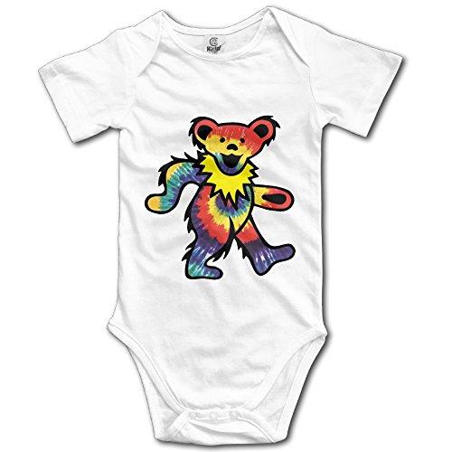 Onesie Rocks Baby T-shirt (Rock The Grateful Dead Dancing Bear Baby Onesie Infant T Shirt)