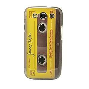 comprar Amarillo, Diseño retro de la cinta magnética IMD duro caso Craft para Samsung Galaxy S3 I9300