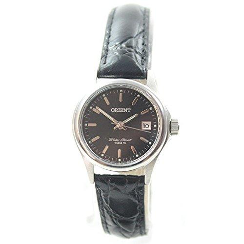 Orient reloj mujer Fashion elegante FECHA cuarzo negro piel fsz2 °f004b0