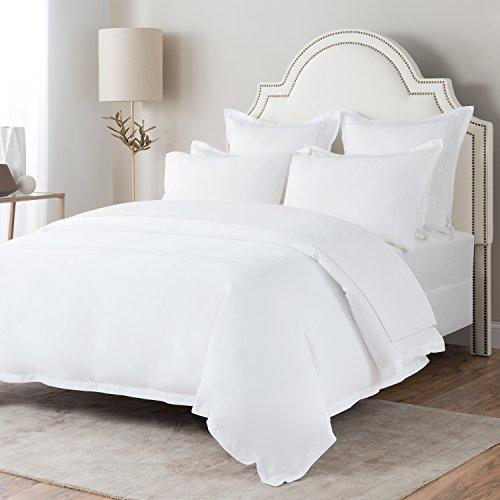 SM Brushed Flannel Deep Pocket Bed Sheet Set, 100% Soft Turkish Cotton - Brushed Flannel Bed Sheets (Queen, White) ()