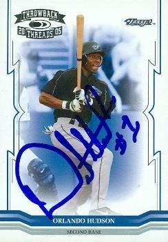 Orlando Hudson autographed Baseball Card (Toronto Blue Jays) 2005 Donruss Throwback Threads #272 - Baseball Slabbed Autographed Cards