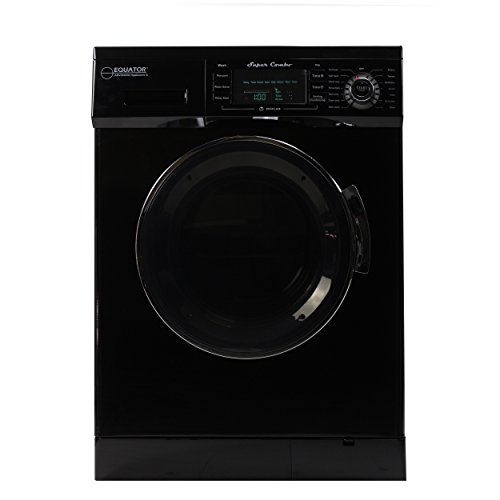 Price comparison product image Equator All-in-one Compact Combo Washer Dryer 1200 RPM spin,  Auto water level,  Sensor Dry Optional Venting / Condensing with Portability Kit,  Black