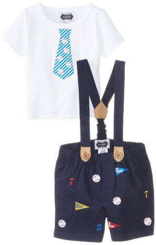 2 Piece Baseball Tee and Short Suspender