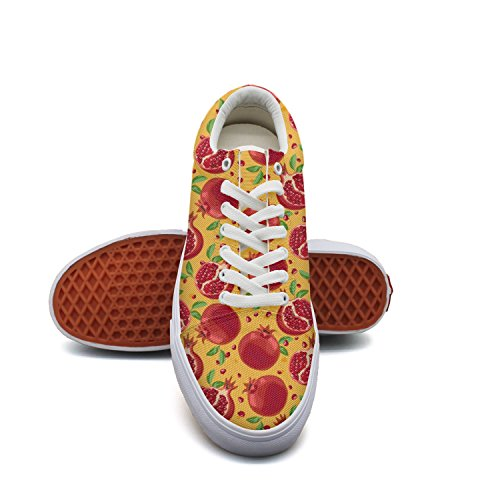 Bright Red Pomegranate Woman Casual Shoes Skateboard Lo-Top Cute (Best Yankee Candle Lip Balms)