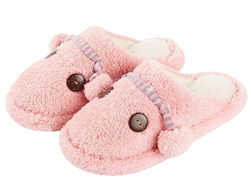 Cattior Womens Morbide Pantofole Calde Morbide Pantofole Morbide Rosa