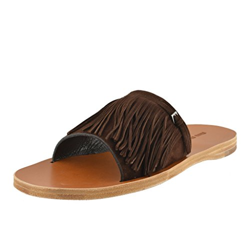 - Miu Miu Women's Suede Leather Flip Flop Shoes US 6.5 IT 36.5; Brown