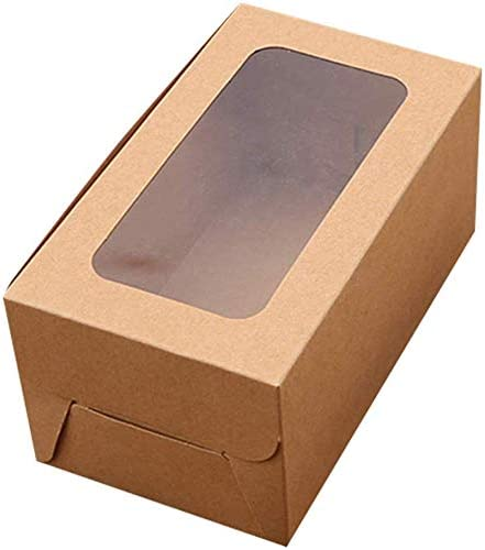 yangGradel 10PCS 2/4/6 Agujeros Kraft Papel Cupcake Embalaje Caja ...