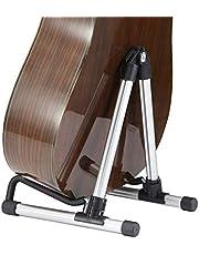 HLVU Soporte de Guitarra Guitarra Soporte Soporte Vertical Plegable Vertical de la Guitarra Accesorios para Guitarra (Color : Silver)