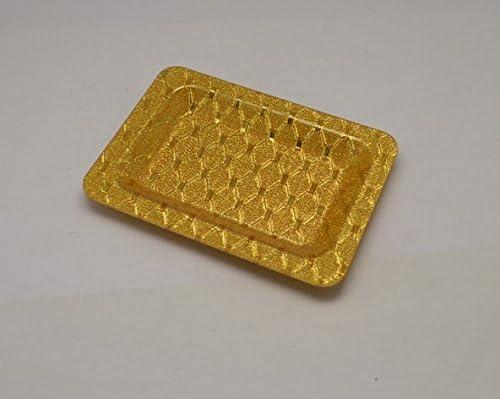 SYDLJ Plato de frutas dulces dorado acrílico KTV disco tuercas de plástico rectangular-toalla discos duros