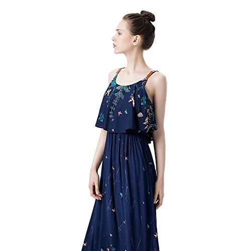 Print Chiffon Maxi Dress - 7
