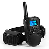 DenSan Dog Training Collar Waterproof and Rechargeable with Remote Collar Trainer Recommended Dog Vibration and Shock Electric Choke Collar
