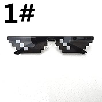 a9f1be3fb8 Buy EDTara Men Women Goggles Glasses Thug Life 8-Bit MLG Pixelated  Sunglasses for Minecraft Players 3 Grid Online at Low Prices in India -  Amazon.in