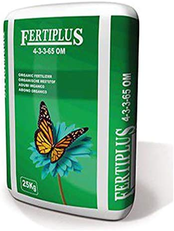 Suinga ABONO ORGANICO peletizado Fertilizante Fertiplus, Saco 25 Kg. Usado en Cultivos como Tabaco, Tomate, hortalizas, frutales, UVA, viñedos o jardinería