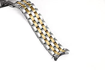 18mm Meticulously Crafted Metal Replacement Watch Bands Solid Stainless Steel Two Tone Silver and Gold