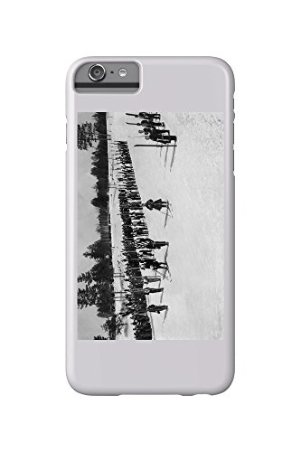 land-o-lakes-wisconsin-skiers-on-parade-near-kings-gateway-hotel-iphone-6-plus-cell-phone-case-slim-