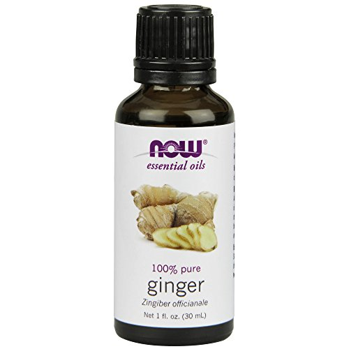 (Now Essential Oils, Ginger Oil, Spicy Aromatherapy Scent, Steam Distilled, 100% Pure, Vegan, 1-Ounce)