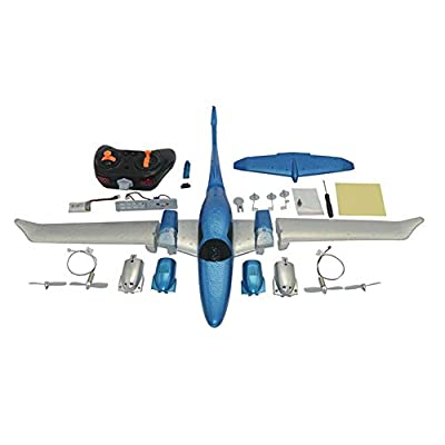 Per Newly Outdoor Flying Toys DIY Fixed Wing EPP RC Plane Foam Remote Control Aircraft GD006 : Baby