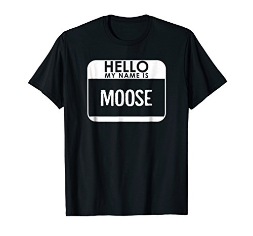 Moose Costume T-Shirt Funny Easy Halloween Outfit Animal ()