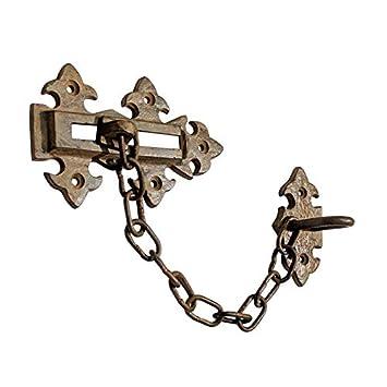 131mm x 78mm, Black Powder Coated Adonai Hardware 131mm x 78mm Iron Security Door Chain