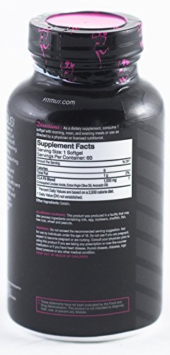 FitMiss Tone, Women's Stimulant Free Midsection Fat Metabolizer, Helps Reduce Body Fat, Increases Muscle Tone, Promotes a Healthy Constitution and Healthy Appetite, Softgels, 60 Servings