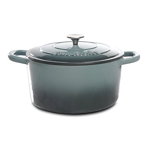 - Crock Pot Artisan 7QT Round Dutch Oven, Gray
